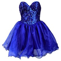 Faironly Navy Blue Mini Short Formal Party Prom Gown Cocktail Homecoming Dress