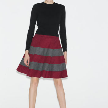 Mini wool skirt (C702)