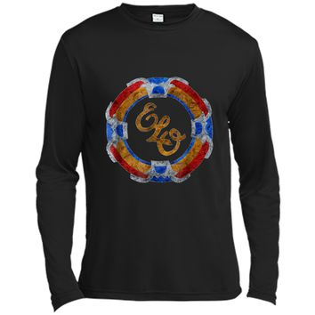 Funny flying disc vintage music rock band 70s  Long Sleeve Moisture Absorbing Shirt