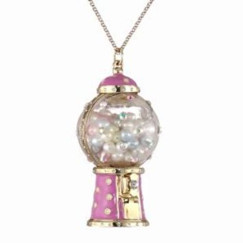 "Betsey Johnson ""Candy Land"" Gum Ball Machine Long Pendant Necklace"