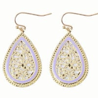Paisley Teardrop Earrings (Lavender) - Piace Boutique