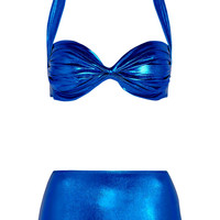 Norma Kamali Ruched bandeau bikini – 45% at THE OUTNET.COM