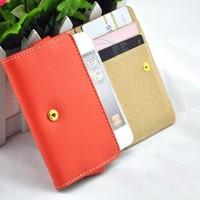 Multi Purpose Protective Pocket Wallet case Purse for iPhone4/4S