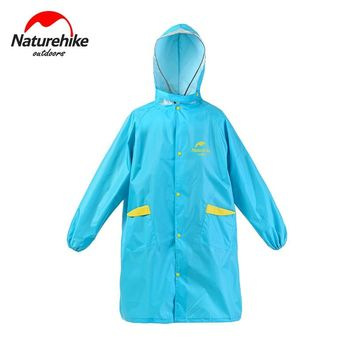 Naturehike Children Outdoor Raincoat Camping Backpack Conjoined Poncho  Student Rain Cape With Backpack Cover NH16D001-M