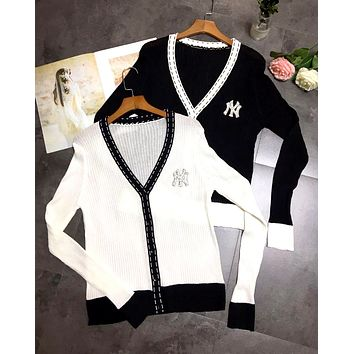 NY Tide brand women's diamond letter light and breathable sunscreen cardigan
