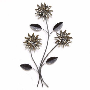 Stratton Home Decor  3 Stem Flowers Wall Decor