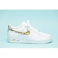 Nike Air Force 1 splattered edition shoes custom hand made all sizes mens / womens / children