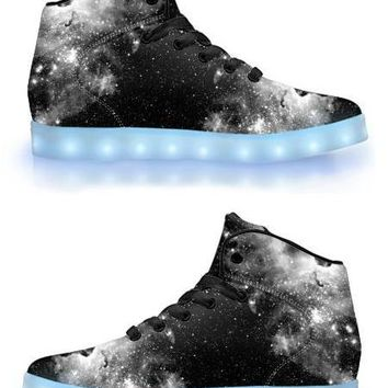 ET Black Out - APP Controlled High Top LED Shoes