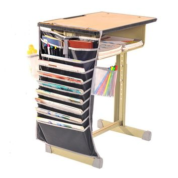 Multifunctional Artifact Desk  Students  Book Hanging  Bag   Learning  Bookends Adjustable Bookshelf  Rack