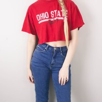 Vintage Ohio State Buckeyes Cropped T Shirt
