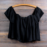 gypsy off the shoulder top | black
