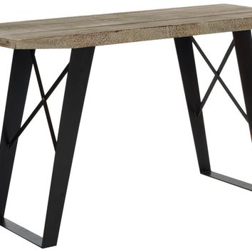 Waldo Console Natural Industrial Reclaimed Look