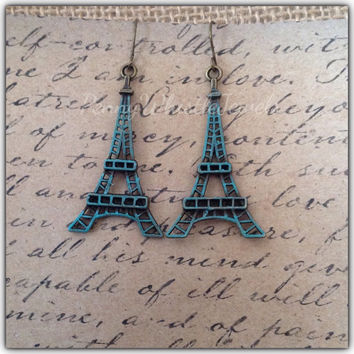 Eiffel Tower Earrings, Paris Earrings, Paris Jewelry