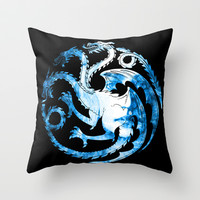 Bride of Fire Throw Pillow by D77 The DigArtisT