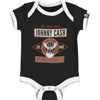 Johnny Cash Boys' Bodysuit Black