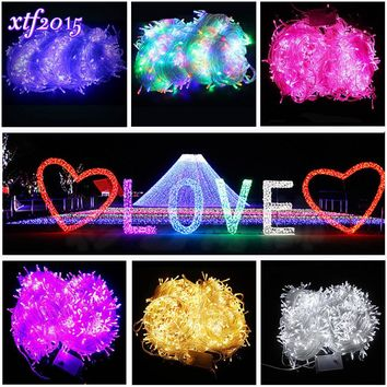 100M 800 LEDs LED Christmas String Outdoor Light Fairy String Garland Garden 100M Wedding Lights Party Home Decoration Long Lamp