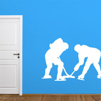 Hockey Players Face Off Removable Wall Vinyl