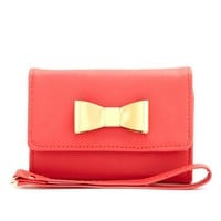 METALLIC BOW PHONE WRISTLET
