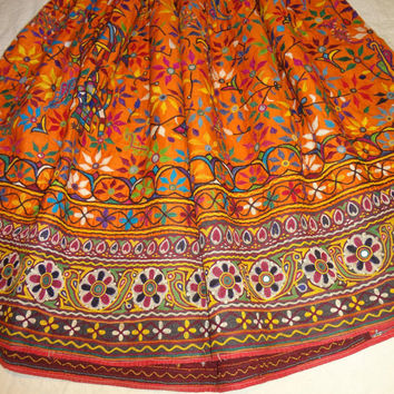 belly dancers skirts/vintage skirts / banjara skirts/tribal indian skirts/  tribal clothes /hand made skirts/ shisha work skirt