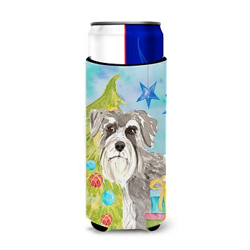 Christmas Tree Schnauzer #1 Michelob Ultra Hugger for slim cans CK1866MUK