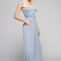 End Of Time Maxi Dress - Dusty Blue