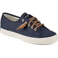 Women's Seacoast Canvas Sneaker in Navy by Sperry - FINAL SALE