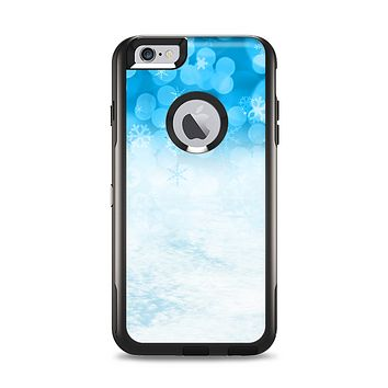 The Winter Blue Abstract Unfocused Apple iPhone 6 Plus Otterbox Commuter Case Skin Set