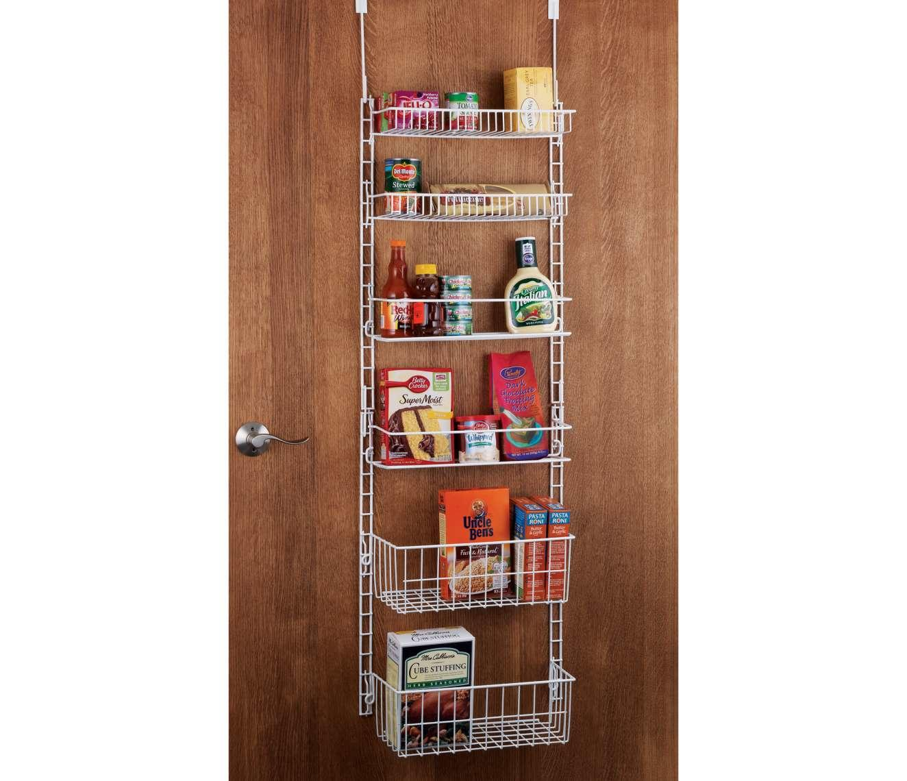 deluxe 6 shelf adjustable pantry door from chefs catalog