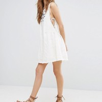Moon River Embroidered Dress at asos.com