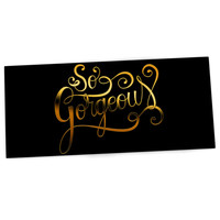 "Roberlan ""So Gorgeous"" Gold Black Desk Mat"