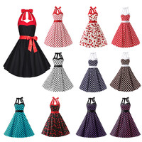 Hot Sale Sweetheart Halter Sleeveless A-Line Short Prom Dress Cocktail Dress with Bow Formal Party Dress Custom Made Cheap Gown