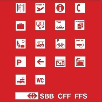 Swiss Graphic Design T-shirt Railroad Swiss Typography Pictographs Graphic