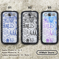 The Beatles Galaxy s4, The Beatles Lyric Custom Samsung S3 S4 Case, cover skin case for Samsung s3 s4 Cases hard case and rubber case