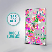 iPad Pro Case Floral iPad Air 2 Clear Case iPad Mini 2 Hard Case iPad Air Flower iPad Mini 4 Pink Purple Case iPad Mini 3 Case Floral