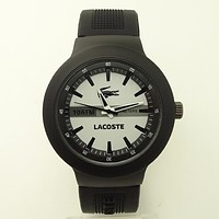 Lacoste color reflective watch F-SBHY-WSL Black crocodile pattern