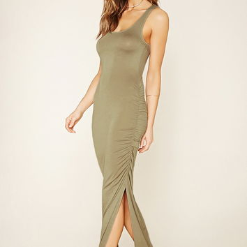 Contemporary Ruched Maxi Dress