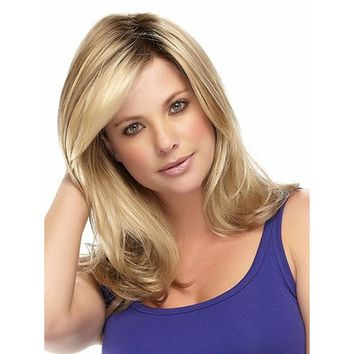 "18"" Soft Long Sexy Beautiful Curly Big Wavy Full Wigs for Young Women Healthy Blonde Cosplay Wigs Hair Replacement Wigs Fancy Dr"