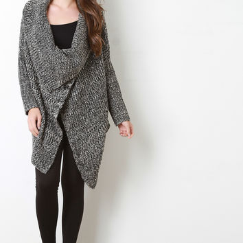 Oversized Draped Chunky Knit Cardigan | UrbanOG
