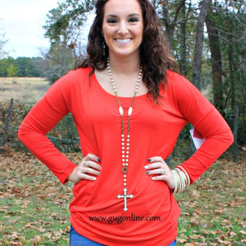 Piko Tunic Top in Red