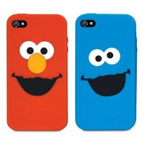 iSound Sesame Street Elmo and Cookie Monster Silicone Case for iPhone 4/4S