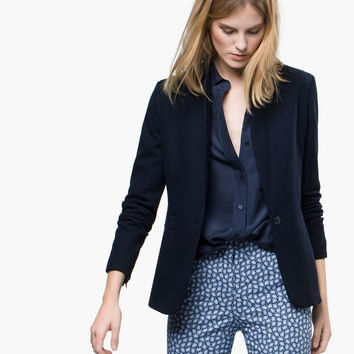 KNIT BLAZER - View all - Blazers - WOMEN - España (Excepto Canarias)/Spain (except the Canary Islands)