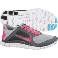 Nike Women's Free 4.0 Running Shoe - Grey/Pink | DICK'S Sporting Goods