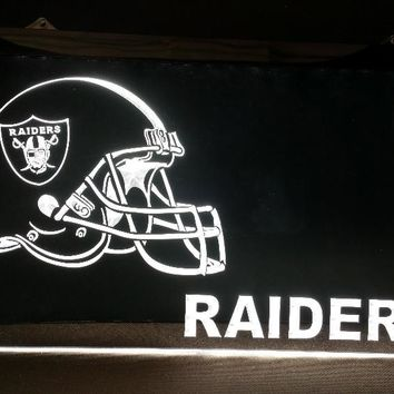 b-229 Oakland Raiders Helmet beer bar pub club 3d signs LED Neon Light Sign man cave