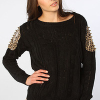 The Adriana Sweater in Black
