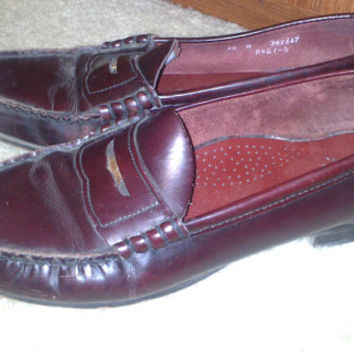 Vintage 1970s Mens Dexter Brown Leather Penny Loafers - Size 10 M