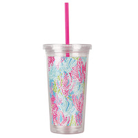 Lilly Pulitzer Straw Tumbler - Lets Cha Cha - Dwellings