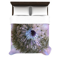 KESS InHouse Dandelion Clock by Alison Coxon Light Duvet Cover
