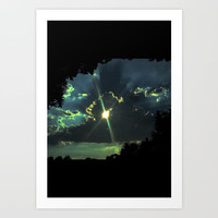Through the Light Art Print by ES Creative Designs