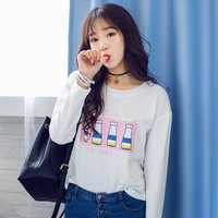 Japanese kawaii loose long-sleeved t-shirt