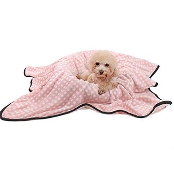 Ohana Elegant Pet Blanket for Dogs and Cats,Soft and Warm Puppy Sleep Mat Fleece Bed Covers for Bed, Couch, Car, Crate and Carrier Bag